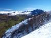 Vista desde el camino bajo la sierra del Crespón