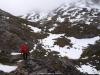Pisando la nieve en varios tramos del camino