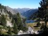 descenso del lago Mar hacia  el lago Dera Restanca