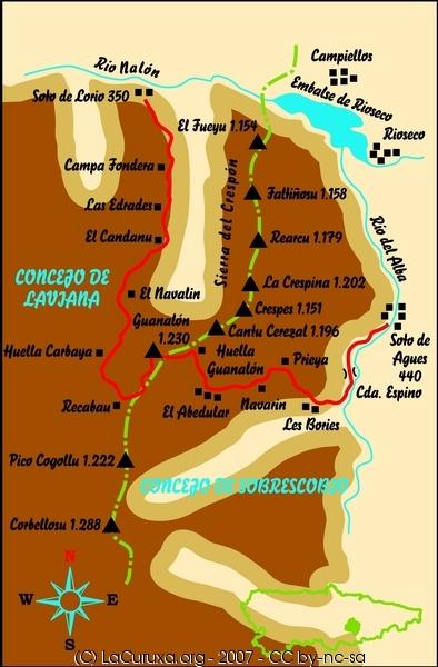 lacuruxa.org rutas 2007 sobrescobio