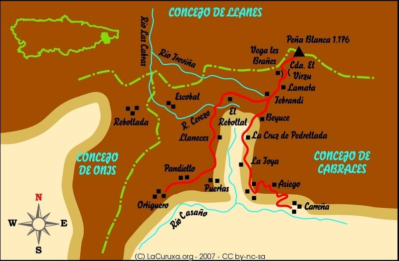 lacuruxa.org mapa ruta 2007 pandiello carreña